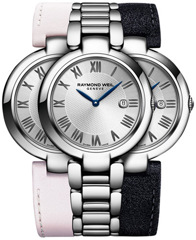 RAYMOND WEIL Women\'s Swiss Shine Stainless Steel Bracelet Watch 32mm ...