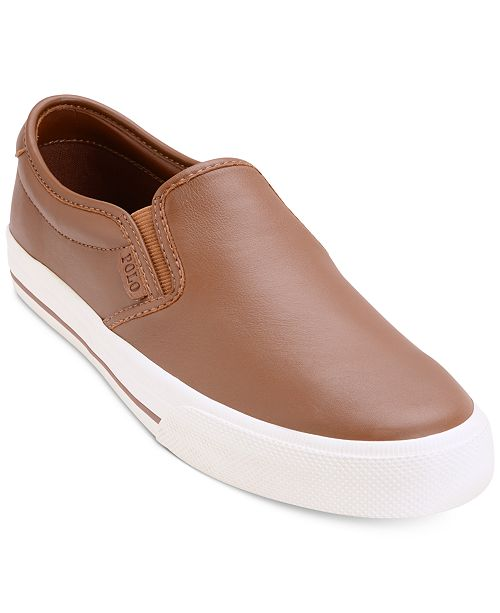 6106b4472efc Polo Ralph Lauren Men s Vaughn Slip-On Sneakers   Reviews - All ...