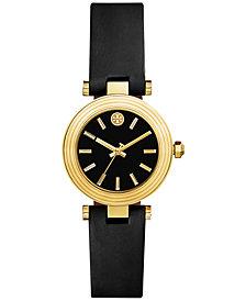 Tory Burch Women's Classic T Black Leather Strap Watch 30mm