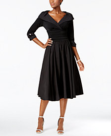 Jessica Howard Portrait Collar A Line Dress
