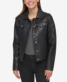 Levi's® Buffed Cow Faux-Leather Jacket