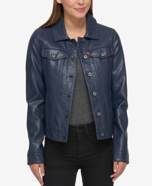 BUFFED COW FAUX-LEATHER JACKET