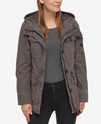Levis Hooded Military Jacket