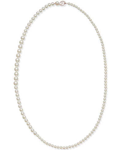 Danori Rose Gold-Tone Graduated Imitation Pearl Long Strand Necklace, Created for Macy's