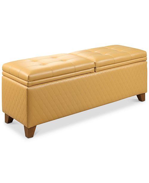 Superb Abbyson Living Mason Quilted Storage Ottoman Quick Ship Creativecarmelina Interior Chair Design Creativecarmelinacom