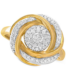 Wrapped in Love 14k Gold Diamond Knot Ring (1/2 ct. t.w.), Created for Macy's