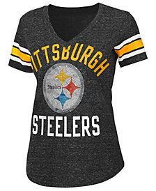 G-III Sports Women's Pittsburgh Steelers Big Game Rhinestone T-Shirt