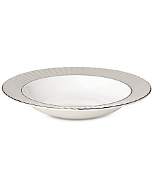 Lenox Pleated Colors Gray Pasta Rim/Soup Bowl