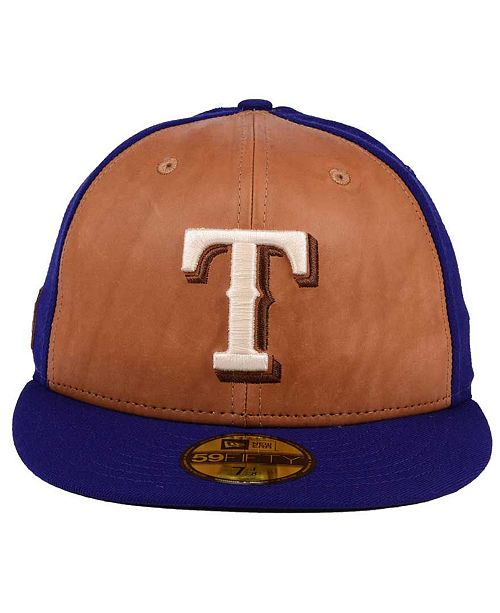 designer fashion 40bbb b76af ... canada new era texas rangers x wilson leather front 59fifty fitted cap  sports fan shop by