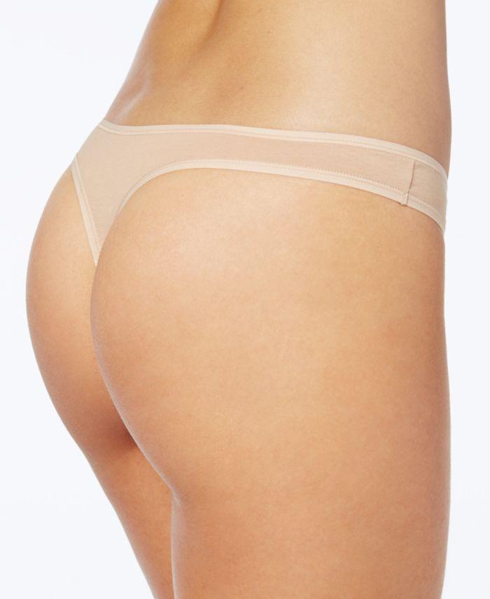 Calvin Klein Cotton Form Thong Underwear QD3643 & Reviews - Bras, Panties & Lingerie - Women - Macy's