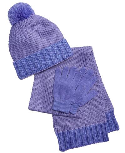 Berkshire 3-Pc. Hat, Gloves & Scarf Set, Little Girls & Big Girls