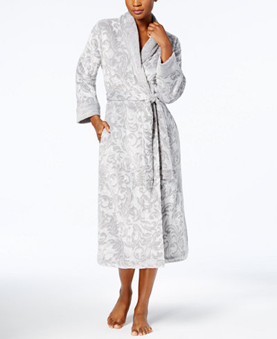 Charter Club Long Scroll-Texture Robe, Created for Macy's