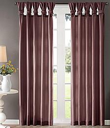 "Emilia 50"" x 84"" Lined Faux-Silk Twisted Tab Window Panel"
