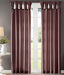 "Madison Park Emilia 50"" x 84"" Lined Faux-Silk Twisted Tab Window Panel"