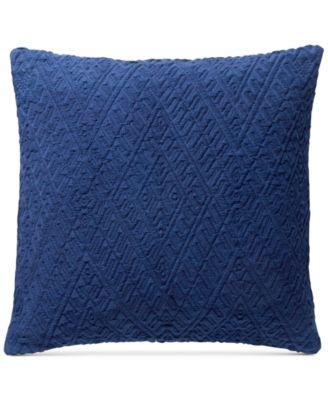 "Diamond Matelasse 18"" Square Decorative Pillow, Created for Macy's"