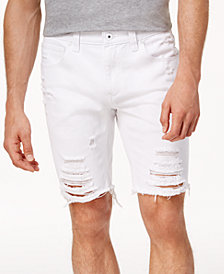 "I.N.C. Men's Ripped 9"" Shorts, Created for Macy's"