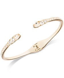 Givenchy Crystal Hinged Cuff Bracelet