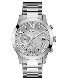 Men's Chronograph Stainless Steel Bracelet Watch 45mm