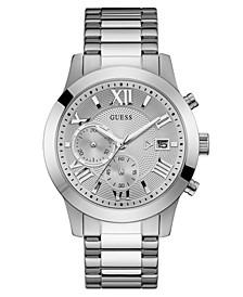 Men's Chronograph Stainless Steel Bracelet Watch 45mm