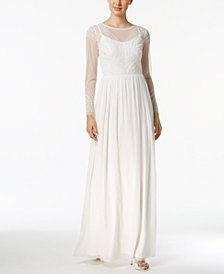 Adrianna Papell Beaded Illusion Gown