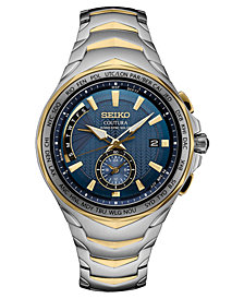 Seiko Men's Solar Coutura Radio Sync Two-Tone Stainless Steel Bracelet Watch 45mm