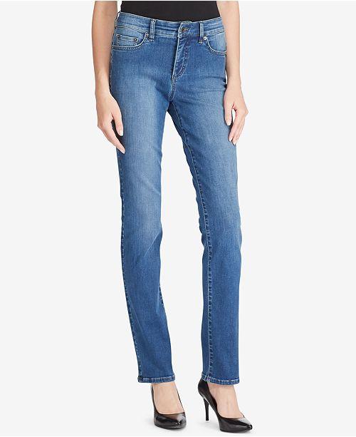 f8dee79962a ... Lauren Ralph Lauren Ultimate Slimming Premier Curvy Straight Jeans ...