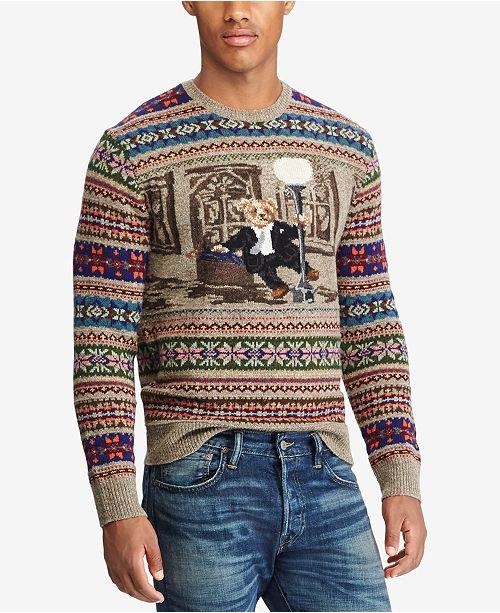 60eeac6f0e Polo Ralph Lauren Men s Iconic Bear Isle Sweater   Reviews ...