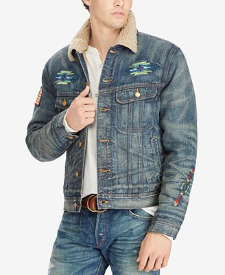 Polo Ralph Lauren Men's Fleece-Lined Denim Jacket - Coats ...