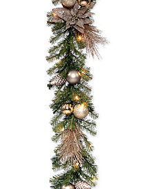 National Tree Company 9' Metallic Garland With 35 Clear Lights