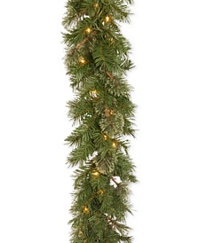 "9' x 10"" Atlanta Spruce Garland with 50 Clear Lights"