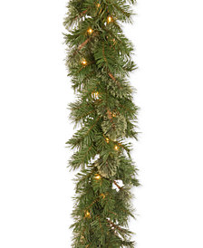 """National Tree Company 9' x 10"""" Atlanta Spruce Garland with 50 Clear Lights"""