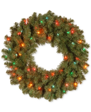 National Tree Company 24 Kincaid Spruce Wreath With 50 Multicolor Lights