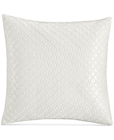 "CLOSEOUT! Hotel Collection Inlay Cotton 20"" Square Decorative Pillow, Created for Macy's"