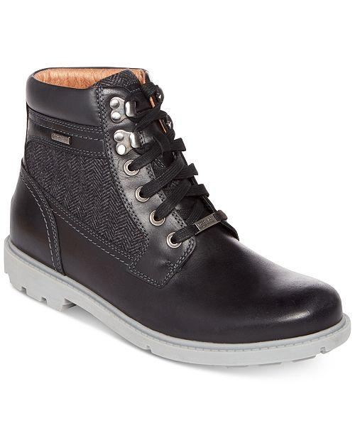 e86451d08b5 Rockport Men's Rugged Bucks High Boots Created for Macy's & Reviews ...