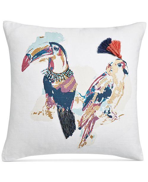 Martha Stewart Collection Tropical Birds Cotton 40 Square Interesting Martha Stewart Decorative Pillows