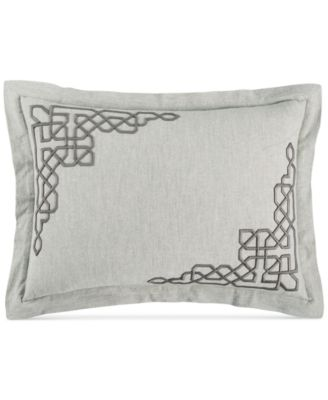 Embroidered Fretwork Standard Sham, Created for Macy's