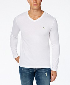 Men's V-Neck Long Sleeve Jersey T-Shirt