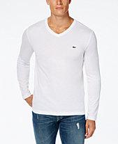Lacoste Men s V-Neck Long Sleeve Jersey T-Shirt 68b6bc3a96