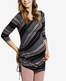 Jessica Simpson Maternity Plus Size Side-Tie T-Shirt