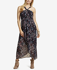 Jessica Simpson Maternity Halter Maxi Dress