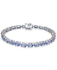 Tanzanite Tennis Bracelet (20 ct. t.w.) in Sterling Silver