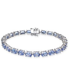 Tanzanite Tennis Bracelet (20 ct. t.w.) in Sterling Silver