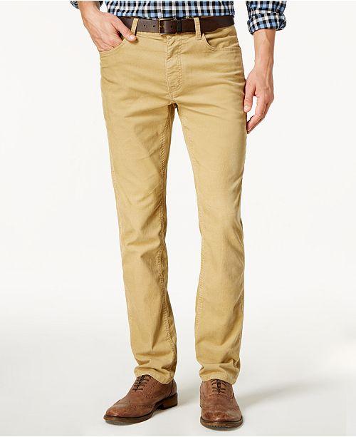 cdf75312a93b8 Tommy Hilfiger Men's Custom-Fit Corduroy Pants, Created for Macy's ...