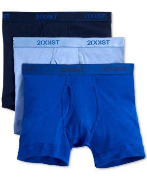 2(X)IST 2(X)Ist Men'S Underwear, Essentials Boxer Brief 3 Pack in Navy/Cobal