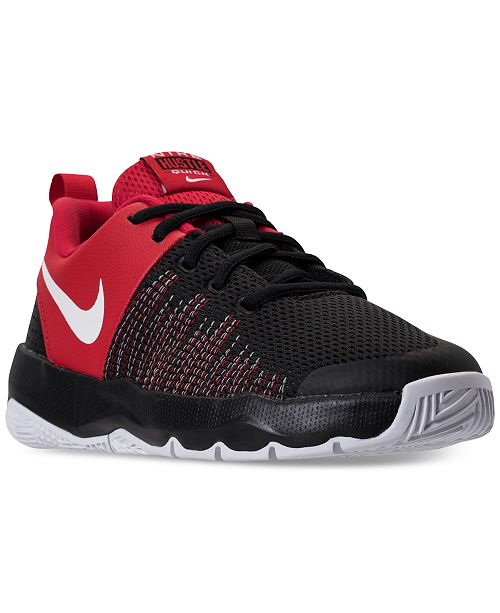 6295aecf4628 ... Nike Big Boys  Team Hustle Quick Basketball Sneakers from Finish ...