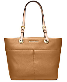 MICHAEL Michael Kors Jet Set Soft Leather Top Zip Tote