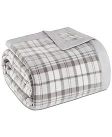 True North by Sleep Philosophy Plaid Micro-Fleece Twin Blanket