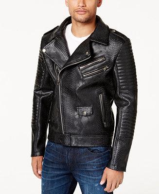 Reason Men S Faux Leather Bomber Jacket Coats Amp Jackets