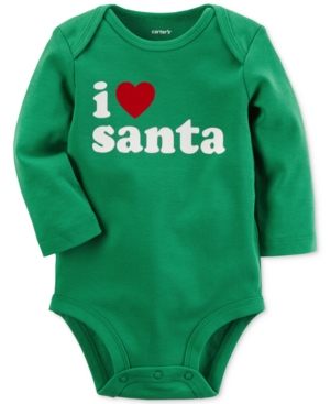 Carters I Heart Santa Cotton Bodysuit Baby Boys  Girls (024 months)