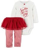 Carters 2-Pc. Sparkle Bodysuit & Tutu Pants Set Baby Girls 0-24 months